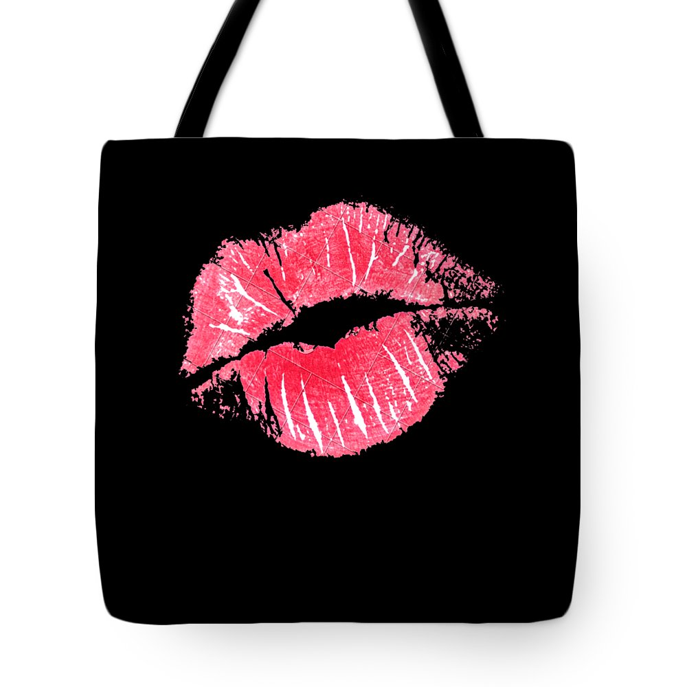 Tote Bag featuring the drawing Kiss by Mg