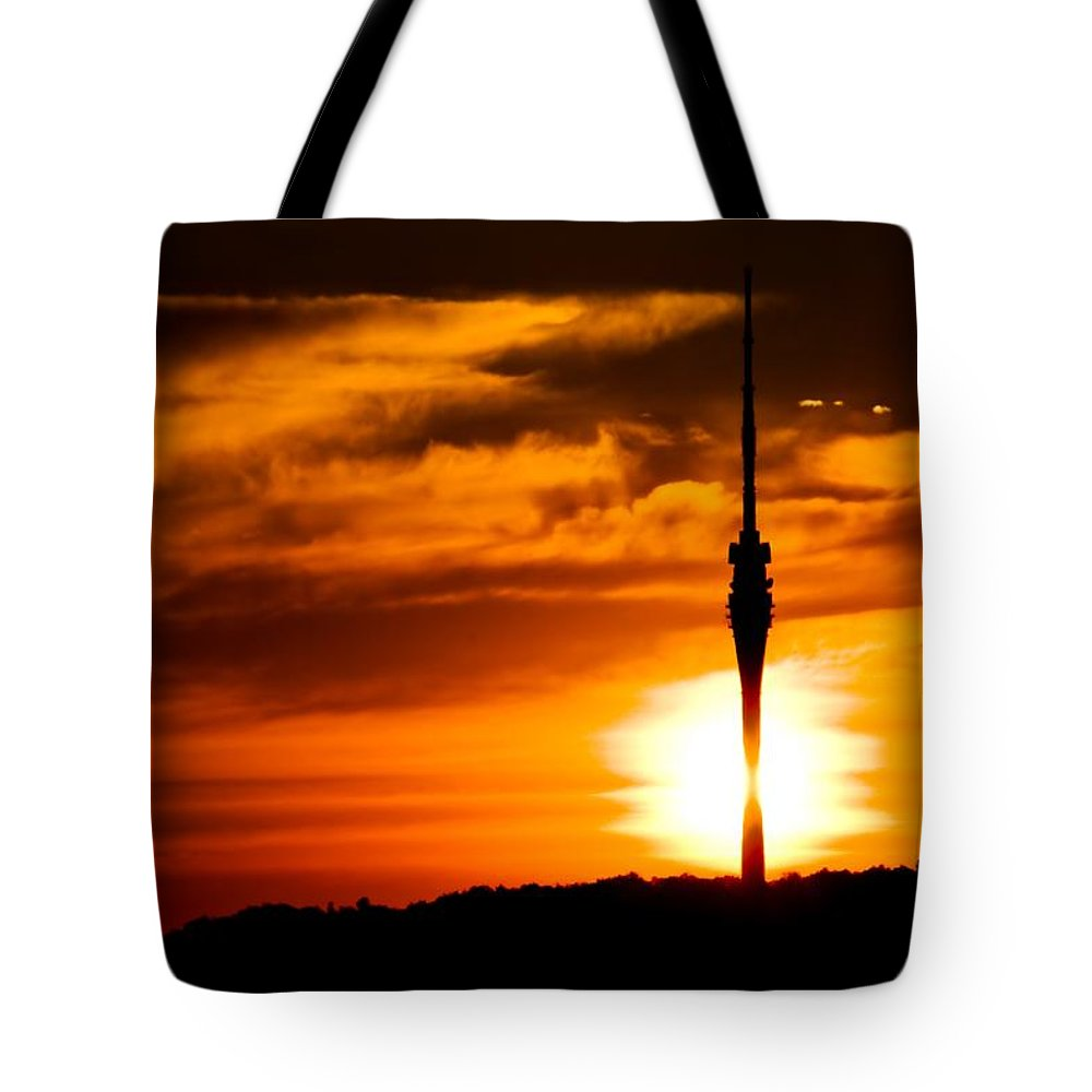 Cloud Tote Bag featuring the photograph Kiss Of Morning Sun by Max Steinwald