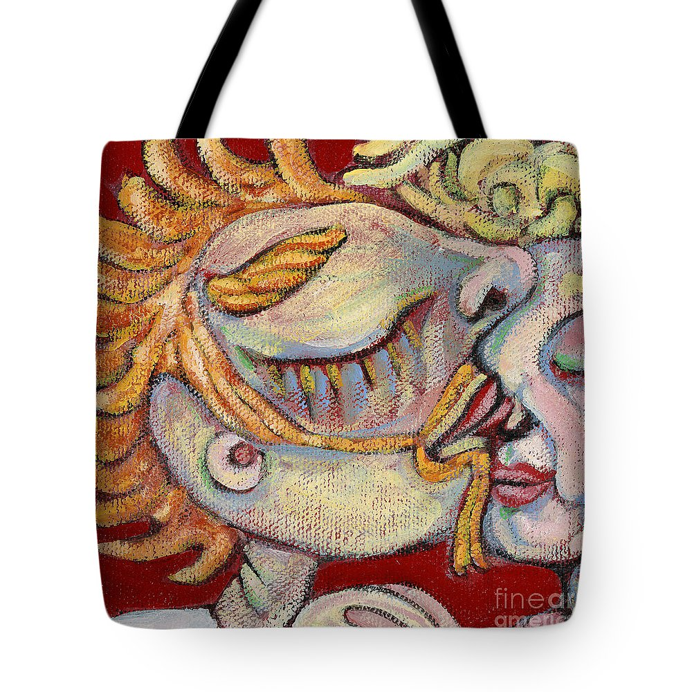 Kissing Tote Bag featuring the painting Kiss On The Nose by Michelle Spiziri