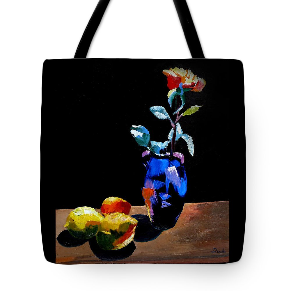 Kiss The Light Tote Bag featuring the painting Kiss The Light by Susan Duda