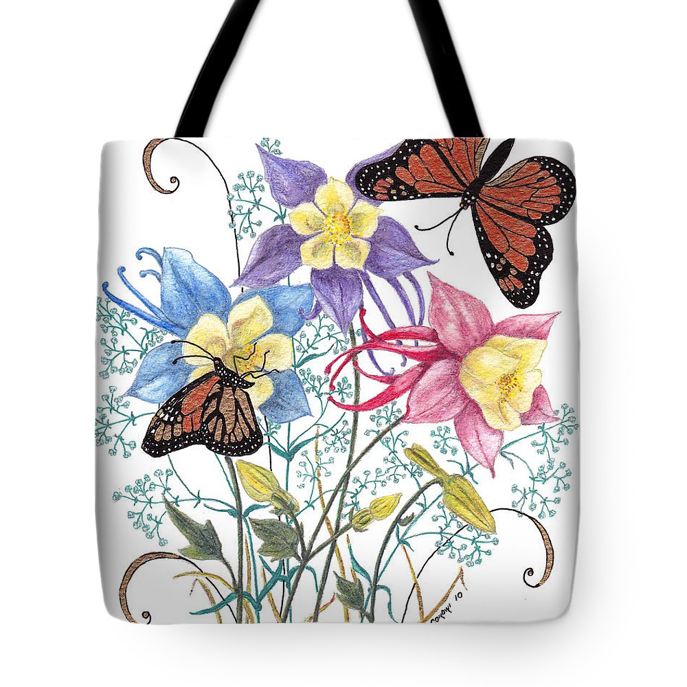 Monarch Butterflies Tote Bag featuring the painting Kiss The Sun by Stanza Widen