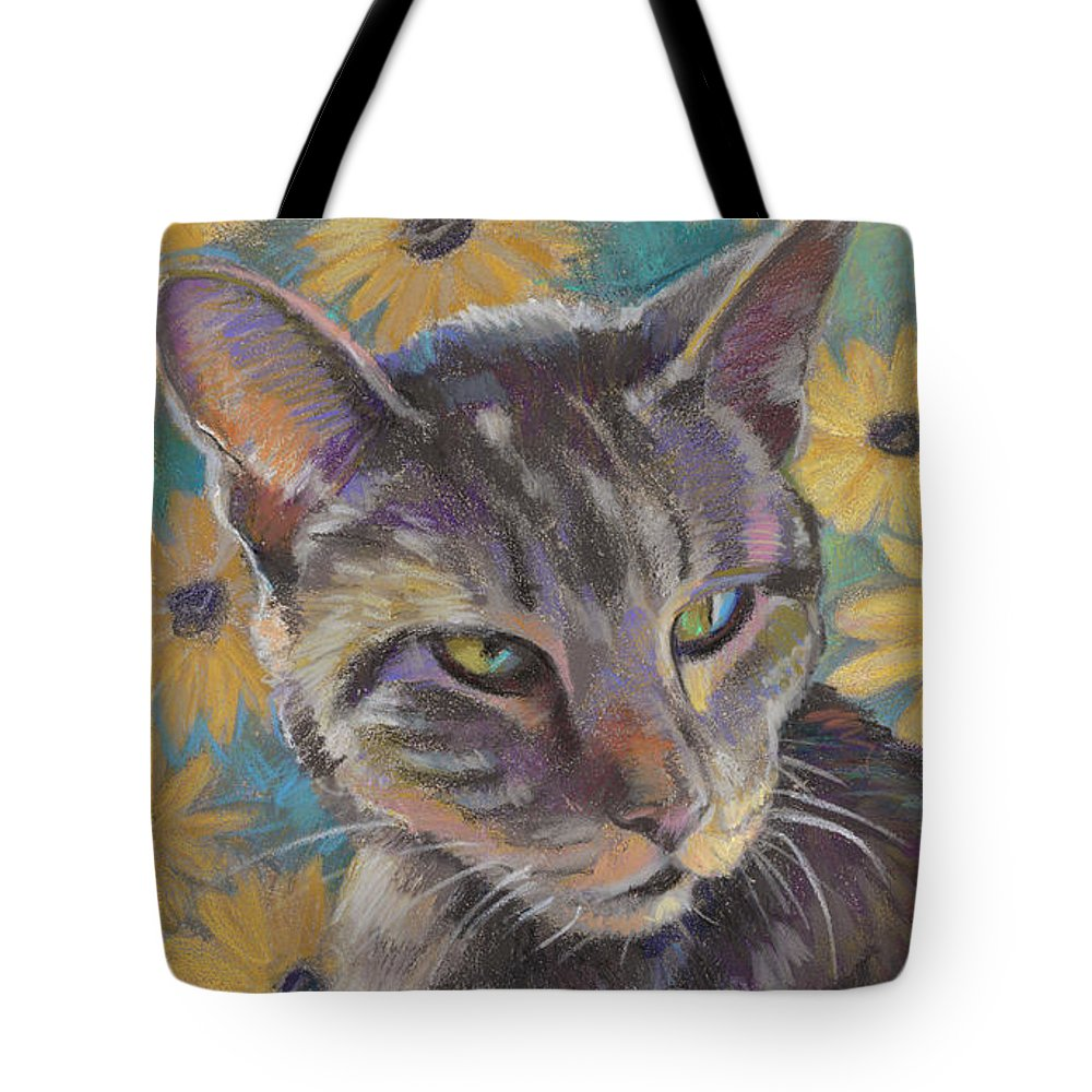 Cat Tote Bag featuring the painting Kit Cat by Jane Oriel