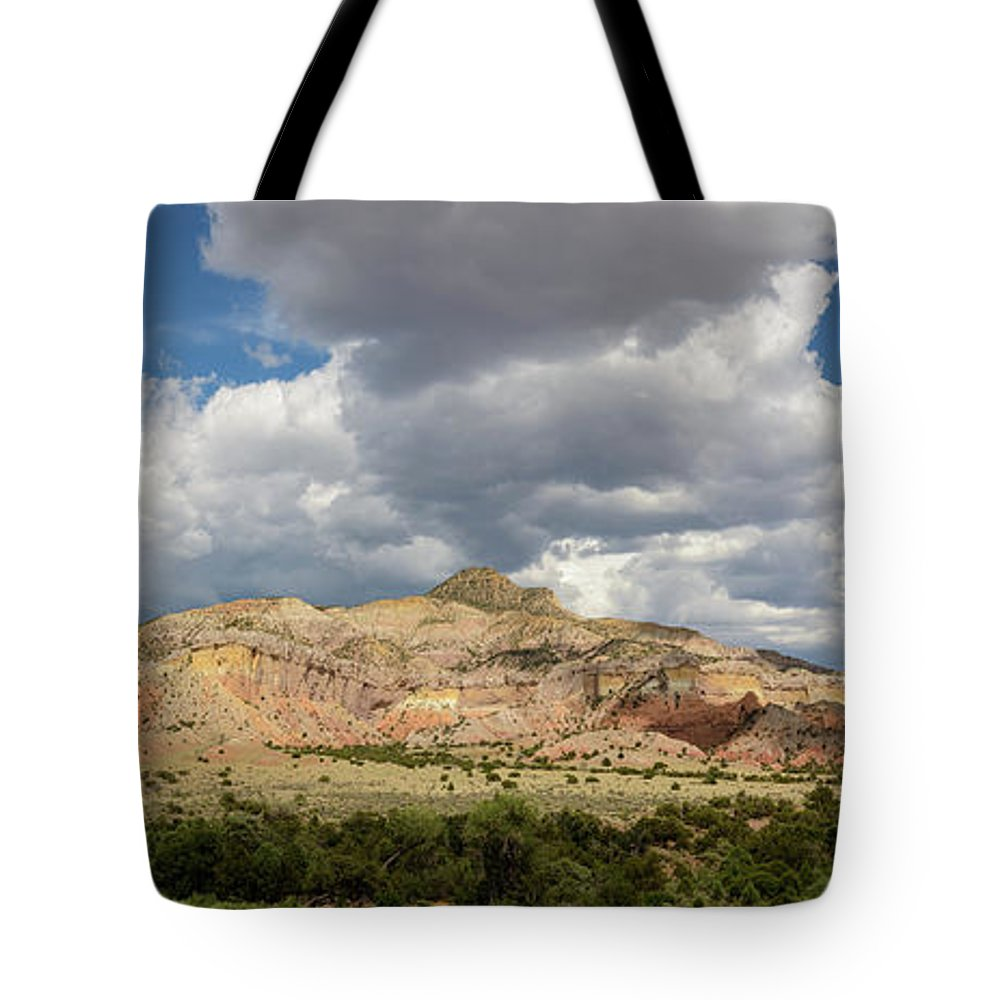Mesa Tote Bag featuring the photograph Kitchen Mesa Panorama by Dusty Demerson