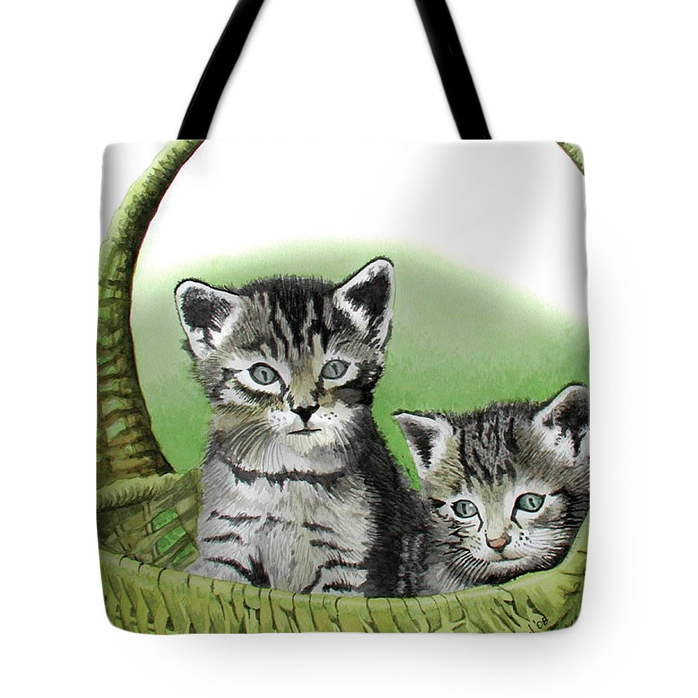 Cat Tote Bag featuring the painting Kitty Caddy by Ferrel Cordle