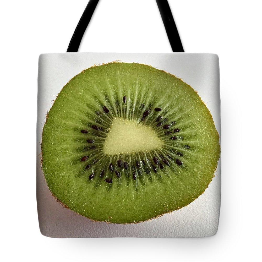 Food Tote Bag featuring the photograph Kiwi by Patricia E Sundik