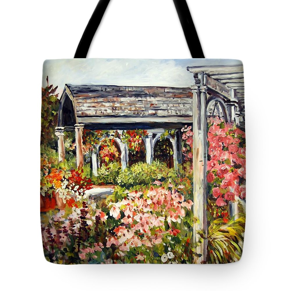 Landscape Tote Bag featuring the painting Klehm Arboretum I by Alexandra Maria Ethlyn Cheshire