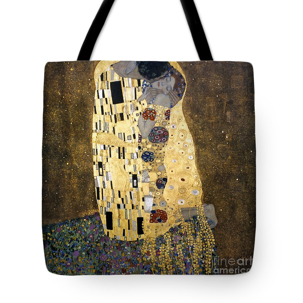 1907 Tote Bag featuring the photograph Klimt: The Kiss, 1907-08 by Granger