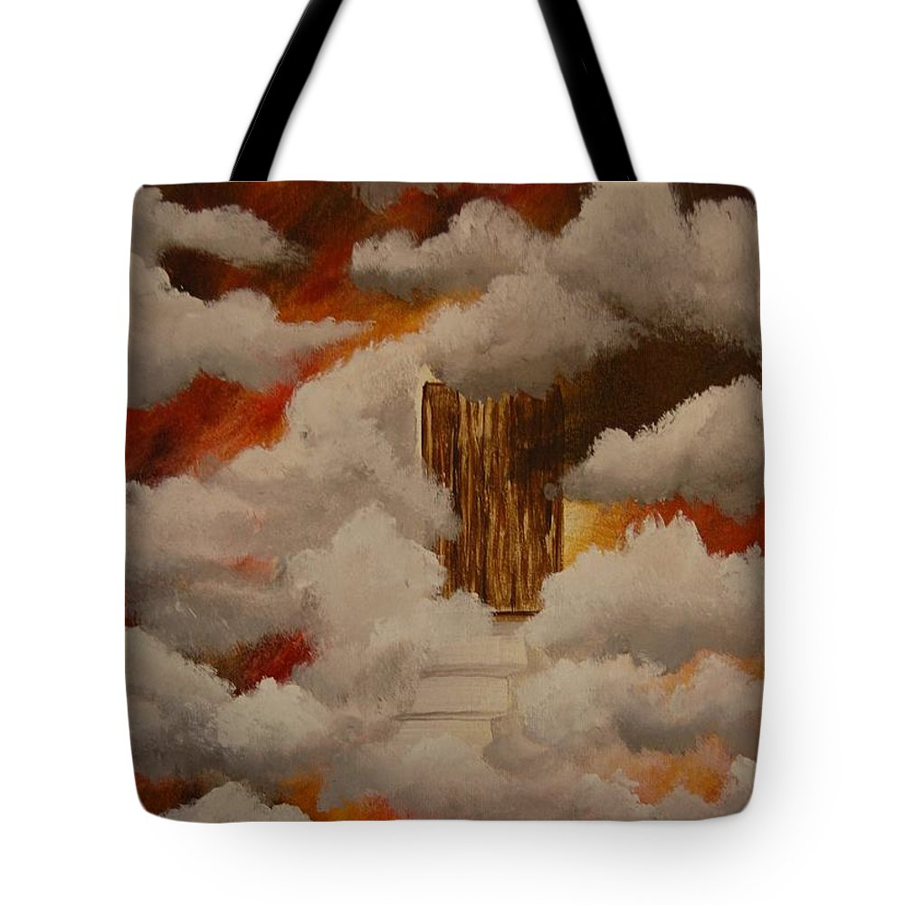 Acrylic Artwork Tote Bag featuring the painting Knock And The Door Will Open by Laurie Kidd