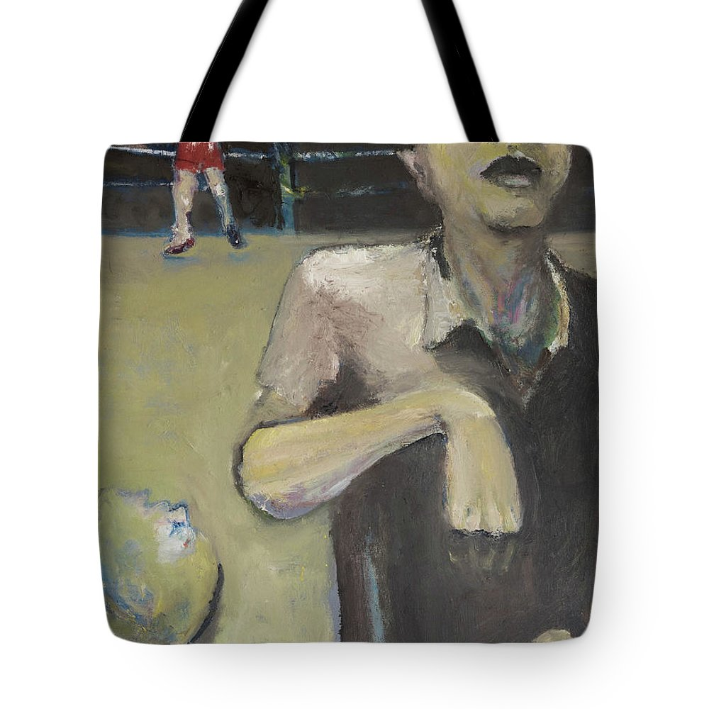 Boxing Tote Bag featuring the painting Knock Out by Craig Newland