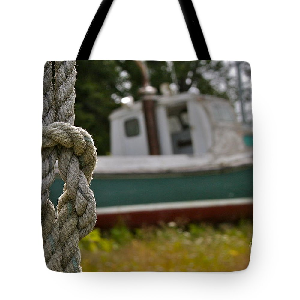 Boat Tote Bag featuring the photograph Knot by Rick Monyahan