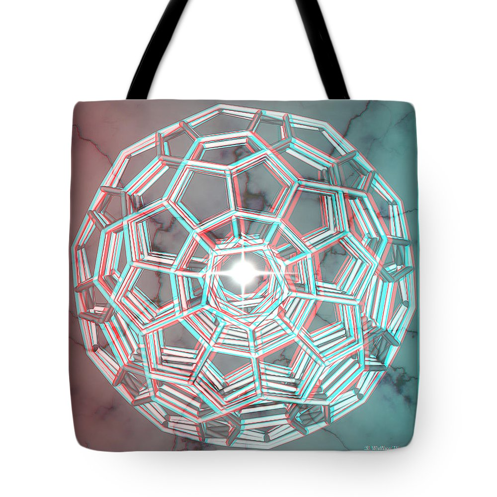 3d Tote Bag featuring the digital art Knotplot 3 - Use Red-cyan 3d Glasses by Brian Wallace