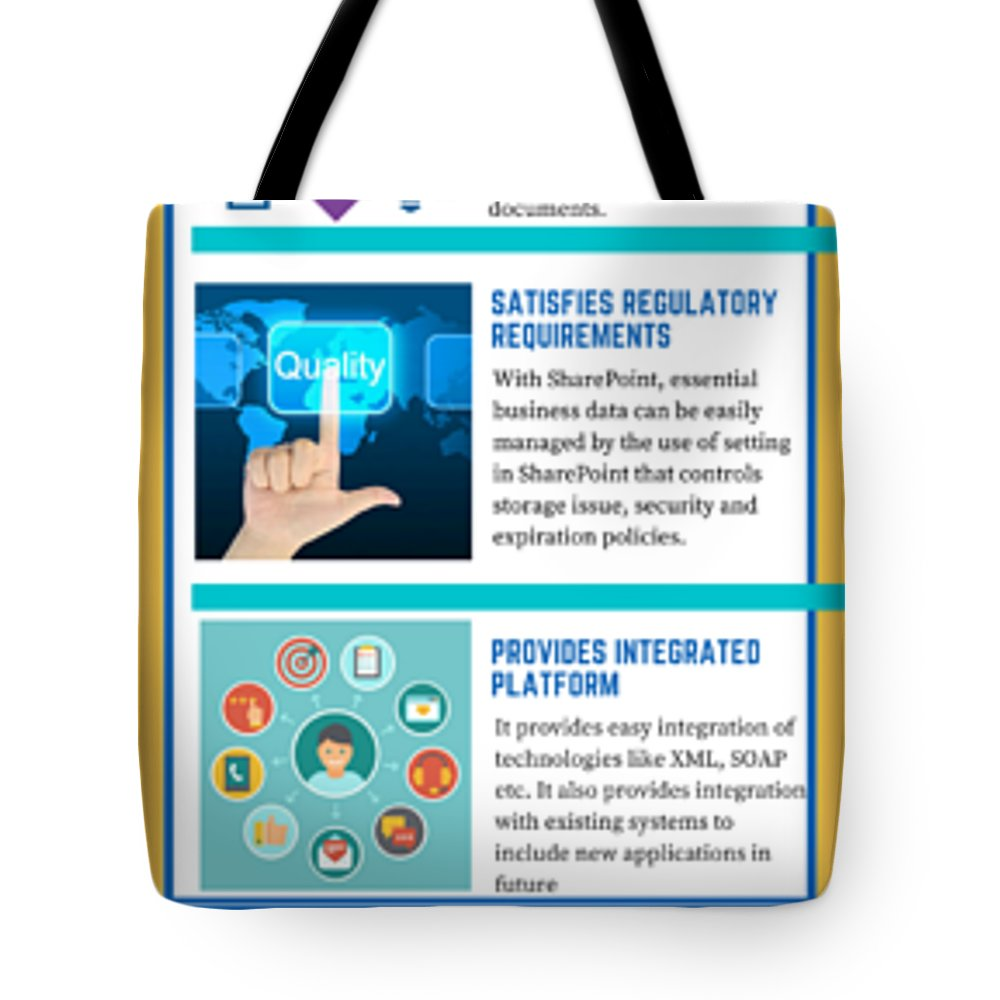 Sharepoint 2016 Tote Bag featuring the digital art Know About The Benefits Of Using Microsoft Sharepoint 201 by Edwards Paul