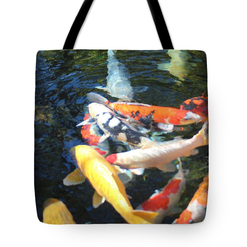 Koi Tote Bag featuring the photograph Koi Fish 2 by Marta Robin Gaughen