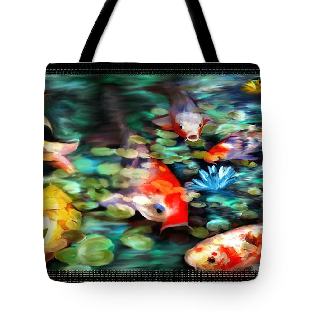 Koi Tote Bag featuring the painting Koi Paradise by Susan Kinney