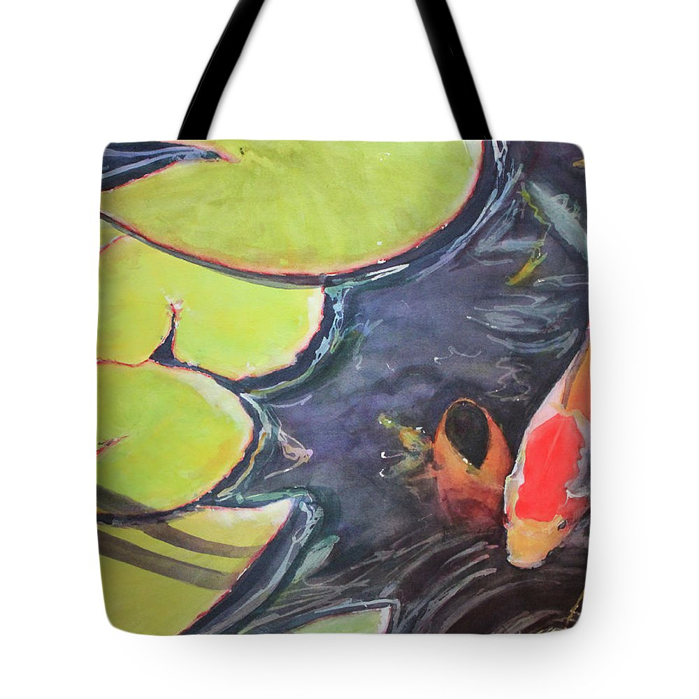 Koi Tote Bag featuring the painting Koi Pond by Madeleine Arnett