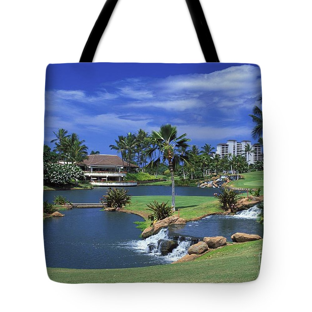 18th Tote Bag featuring the photograph Koolinas 18th Hole by Peter French - Printscapes