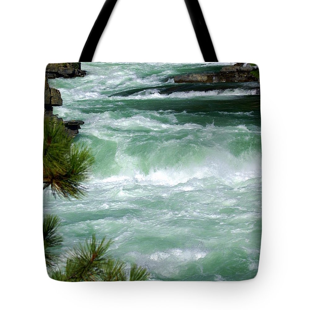 Kootenai River Tote Bag featuring the photograph Kootenai River by Marty Koch