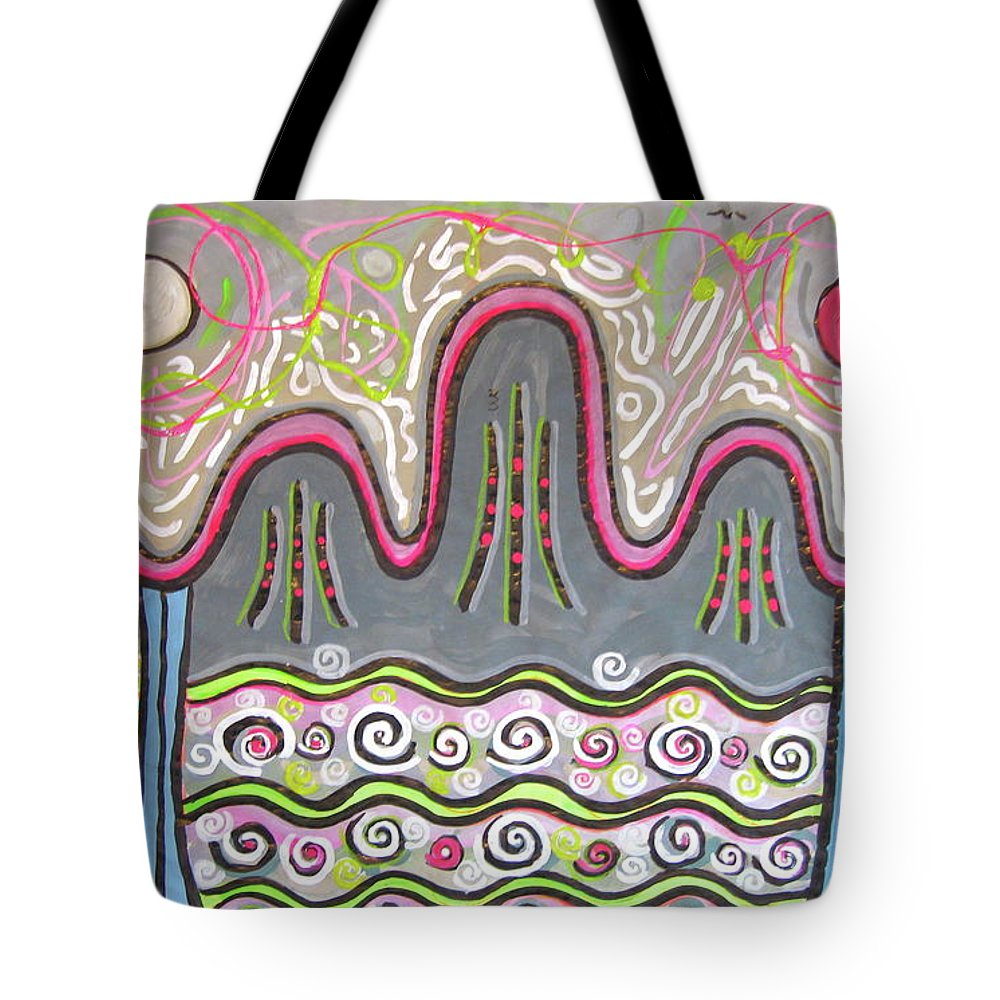 Ilwolobongdo Art Tote Bag featuring the painting Korean Landscape Painting by Seon-jeong Kim