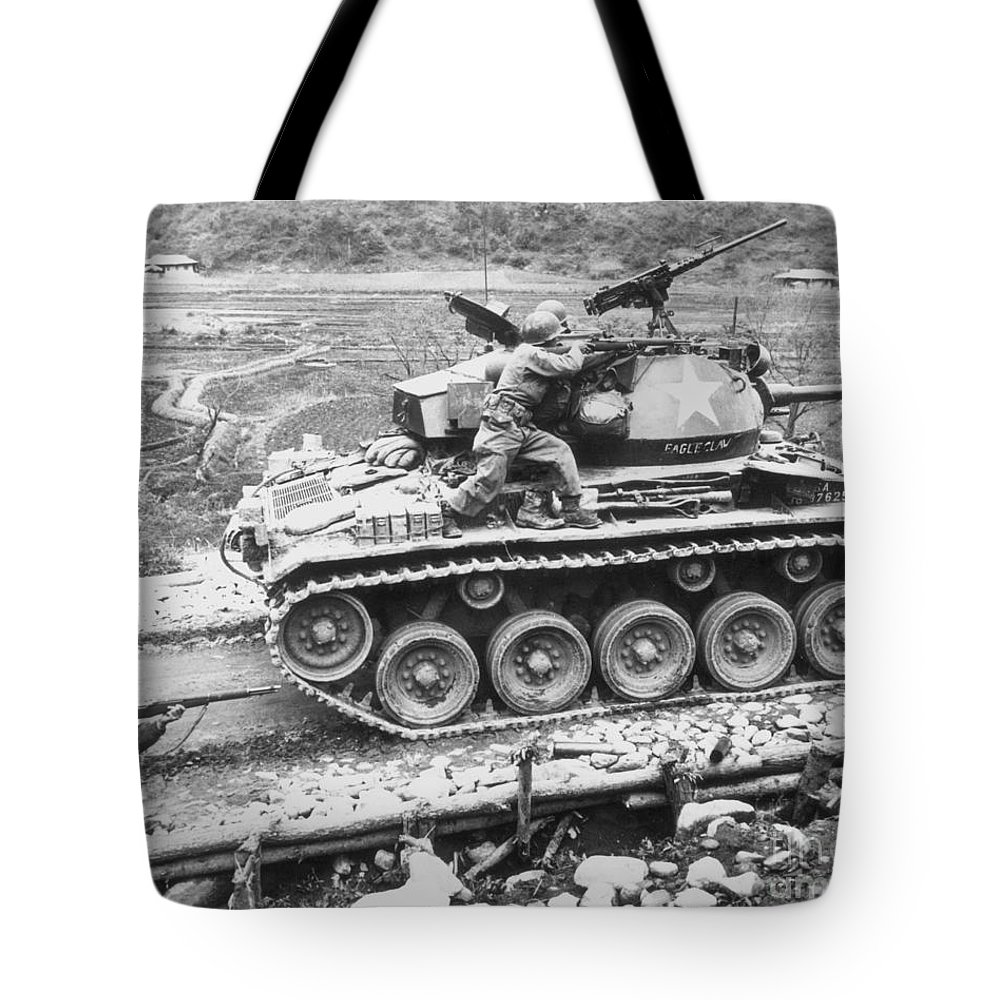 1951 Tote Bag featuring the photograph Korean War, 1951 by Granger