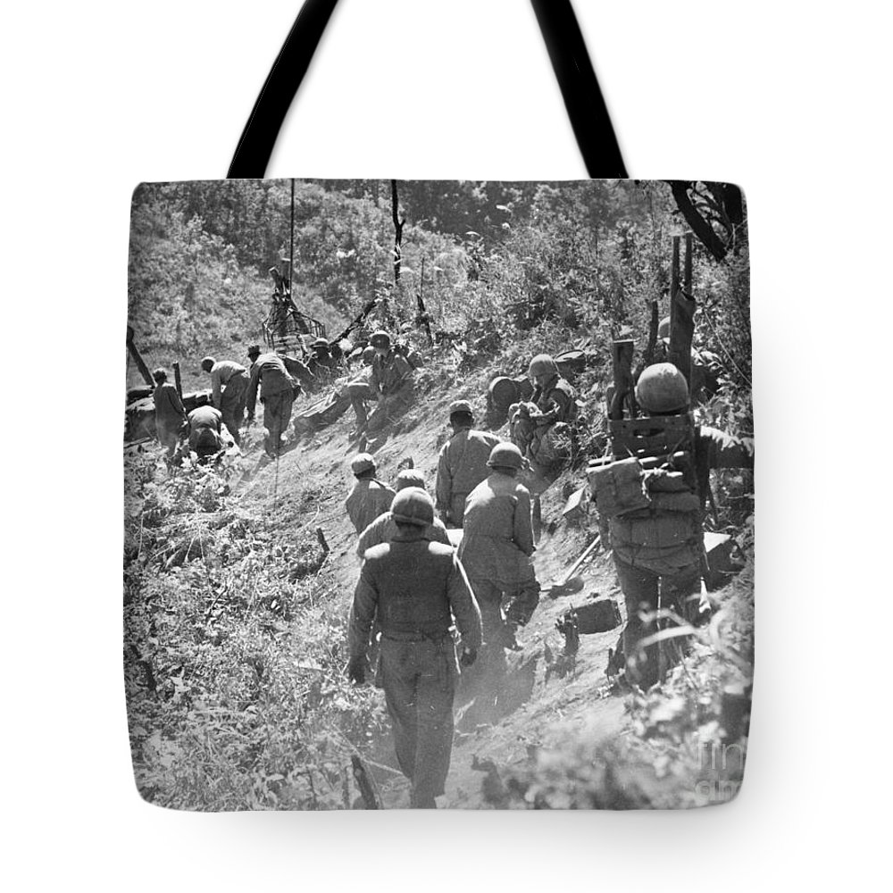 1952 Tote Bag featuring the photograph Korean War: Triangle Hill by Granger