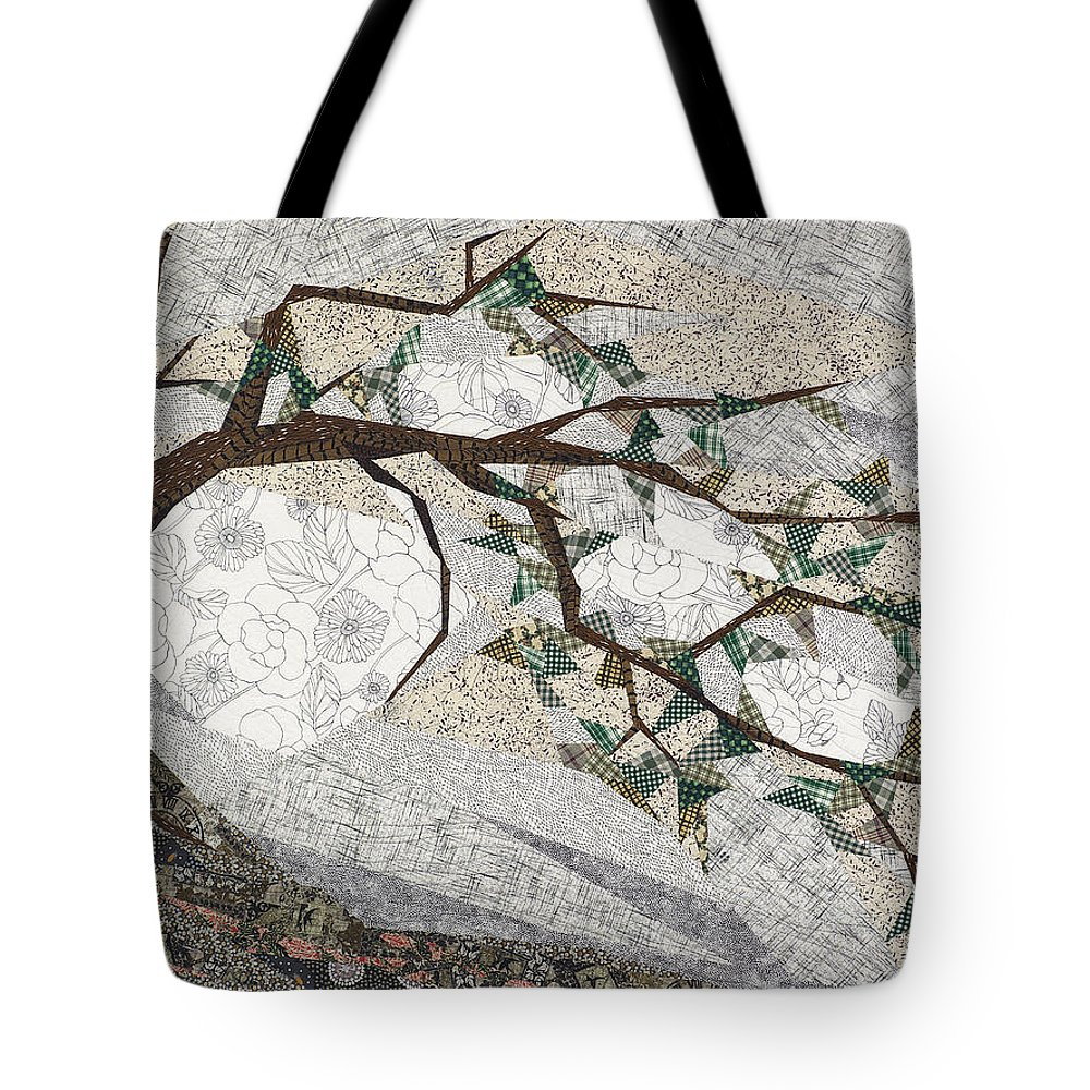 Tree Tote Bag featuring the tapestry - textile Krummholz by Linda Beach