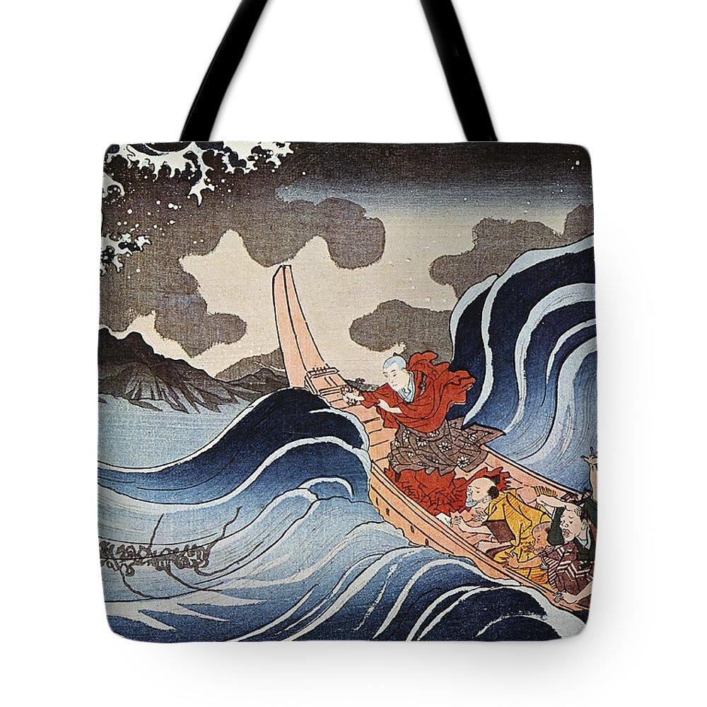 1835 Tote Bag featuring the photograph Kuniyoshi: Oban Print by Granger