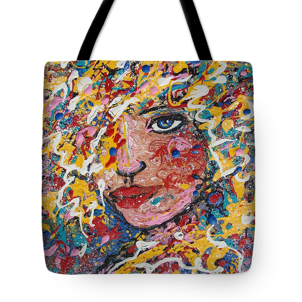 Woman Tote Bag featuring the painting Kuziana by Natalie Holland