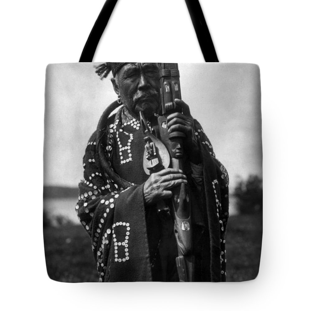 Aod Tote Bag featuring the photograph Kwakiutl Chief, C1914 by Granger