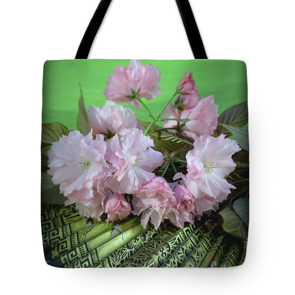 Japanese Fan Tote Bag featuring the photograph Kwanzan by Luv Photography