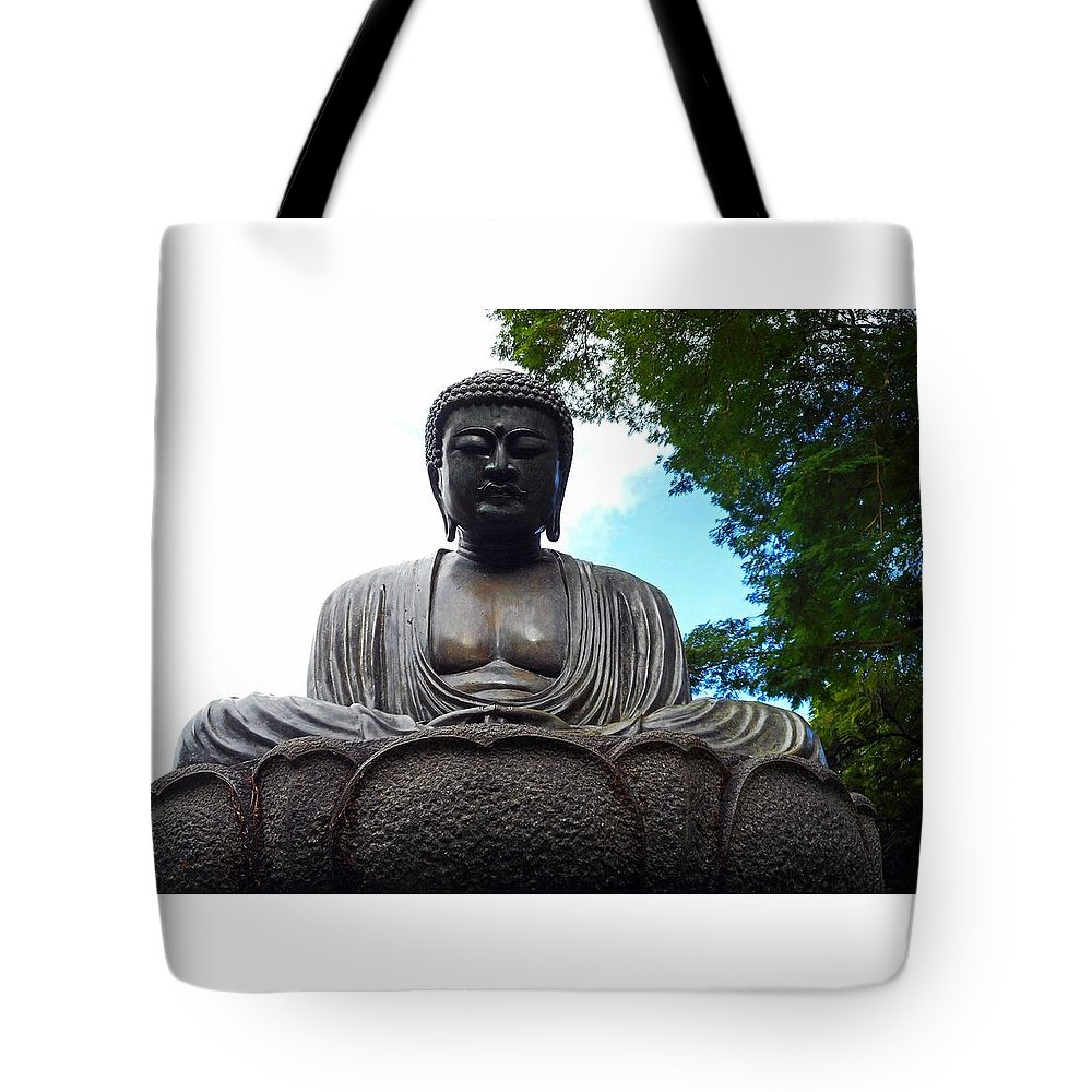 Honolulu Tote Bag featuring the photograph Kwon Yin Temple 7 by Ron Kandt