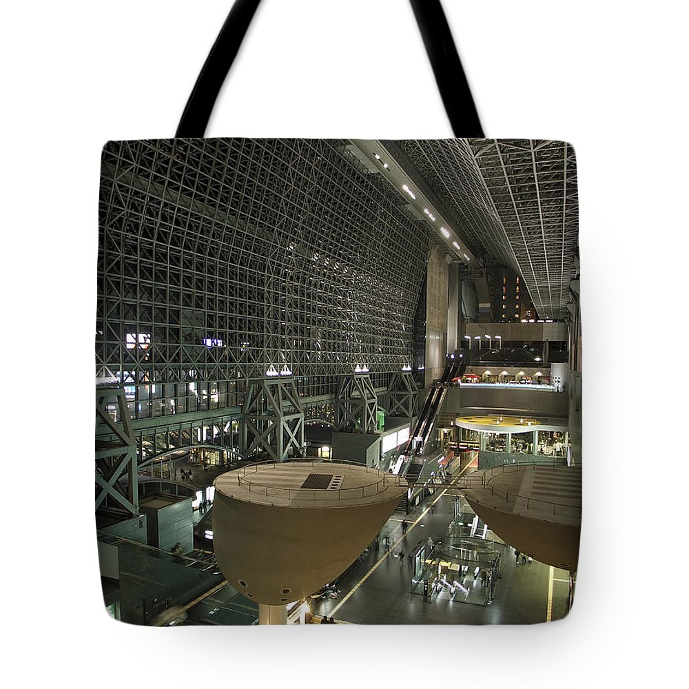 Kyoto Tote Bag featuring the photograph Kyoto Main Train Station - Japan by Daniel Hagerman