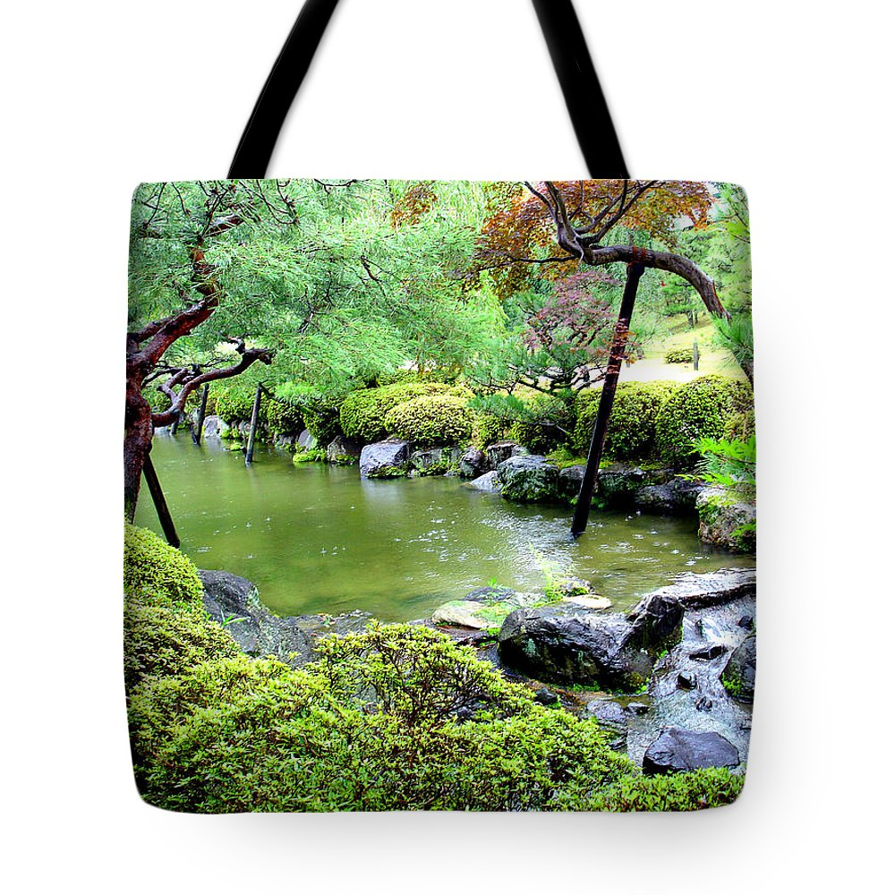 Landscape Tote Bag featuring the digital art Kyoto No. 40 by Dawn Heimer