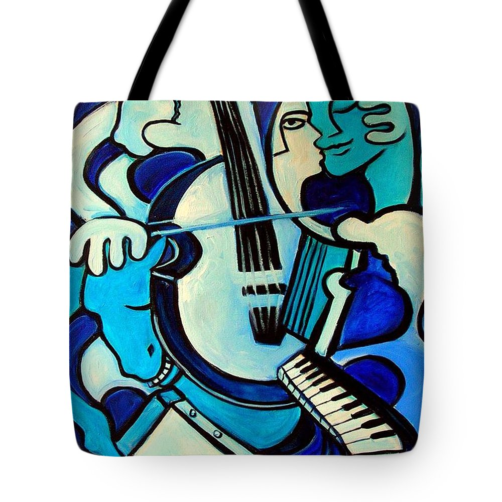 Abstract Tote Bag featuring the painting L Amour Ou Quoi by Valerie Vescovi