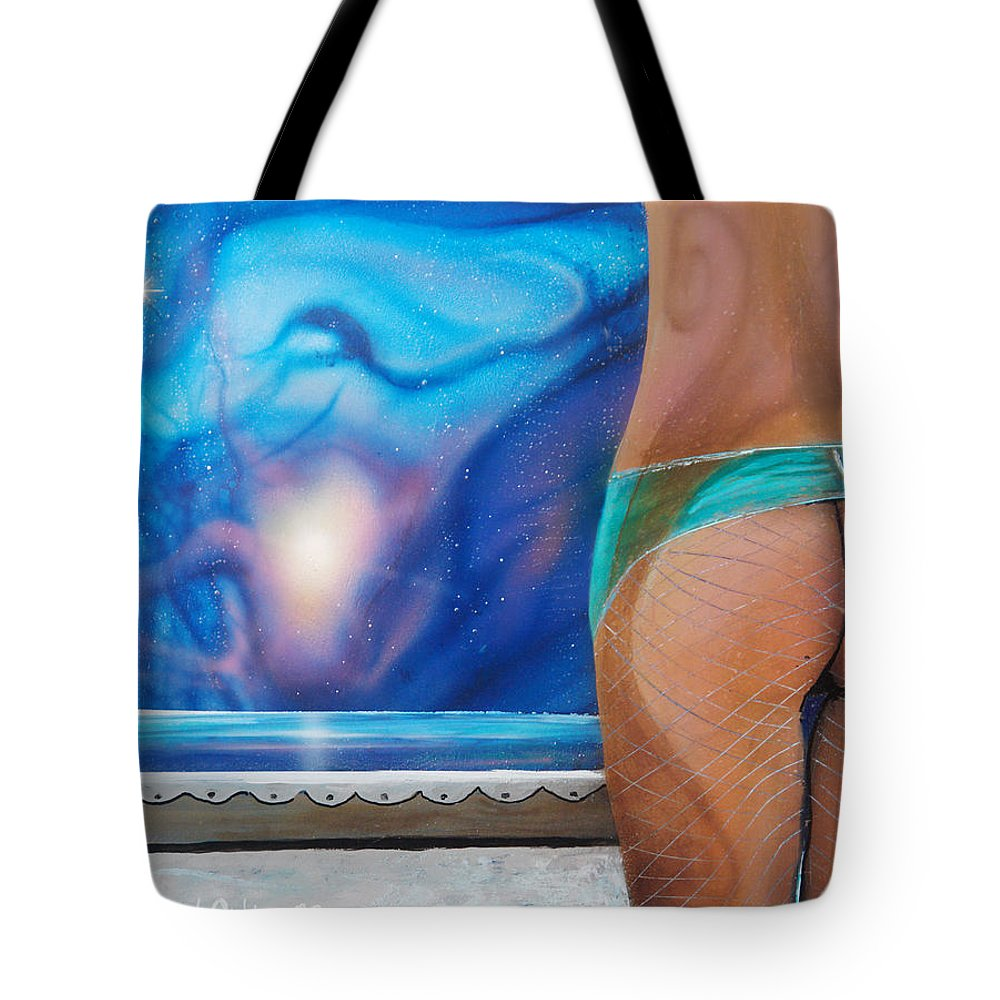 Nebula Caribe Tote Bag featuring the painting La Bailarina by Angel Ortiz
