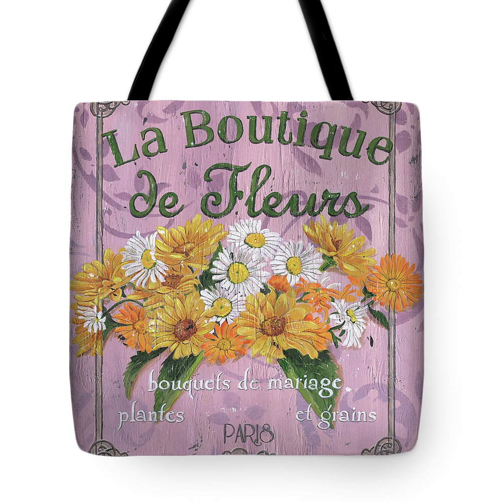 Flowers Tote Bag featuring the painting La Botanique 1 by Debbie DeWitt