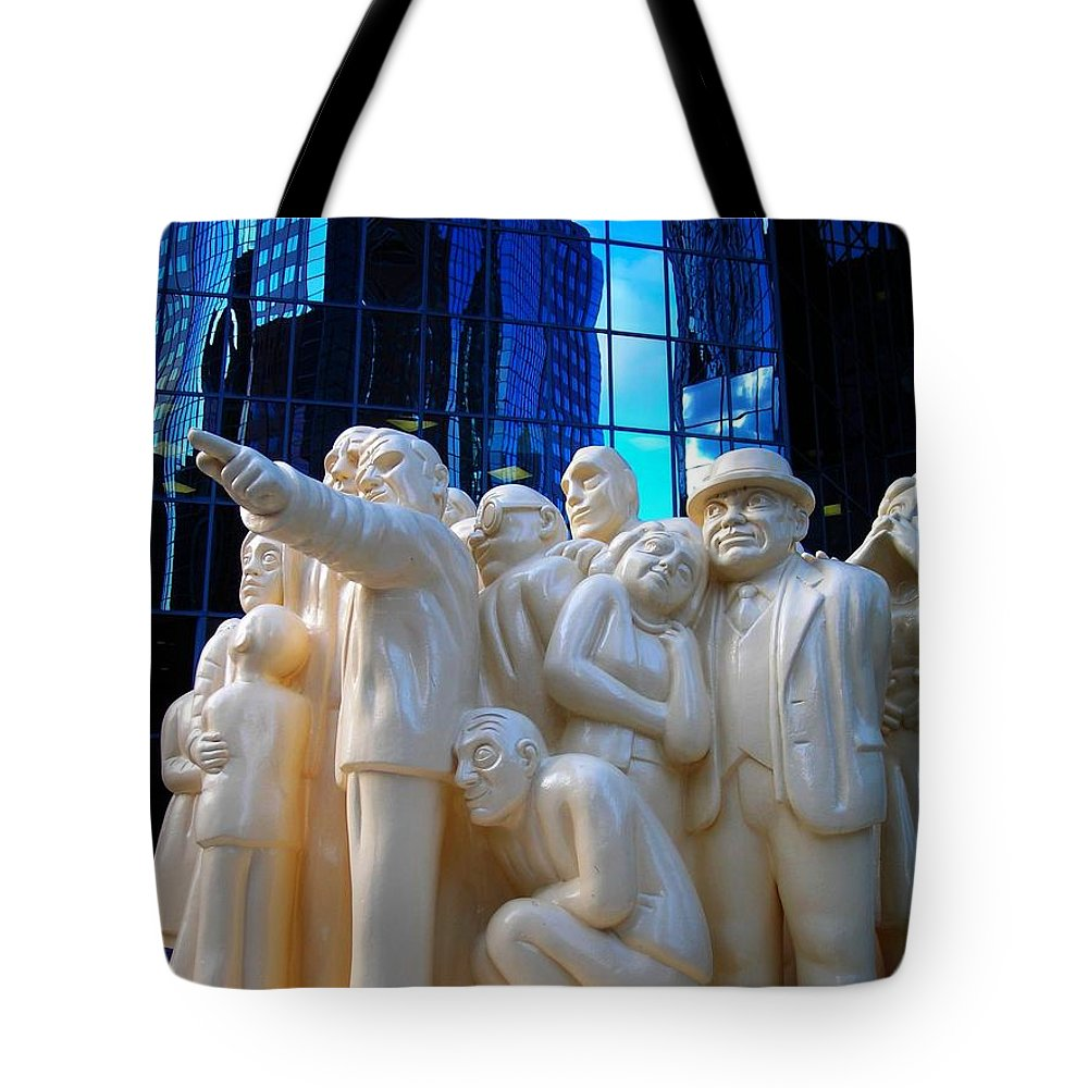 North America Tote Bag featuring the photograph La Foule Illuminee by Juergen Weiss