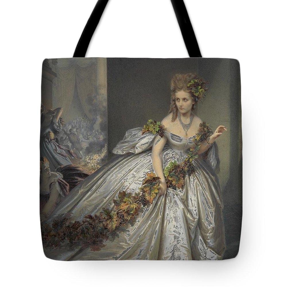 Pierre-louis Pierson La Frayeur Tote Bag featuring the painting La Frayeur by Pierre-Louis Pierson