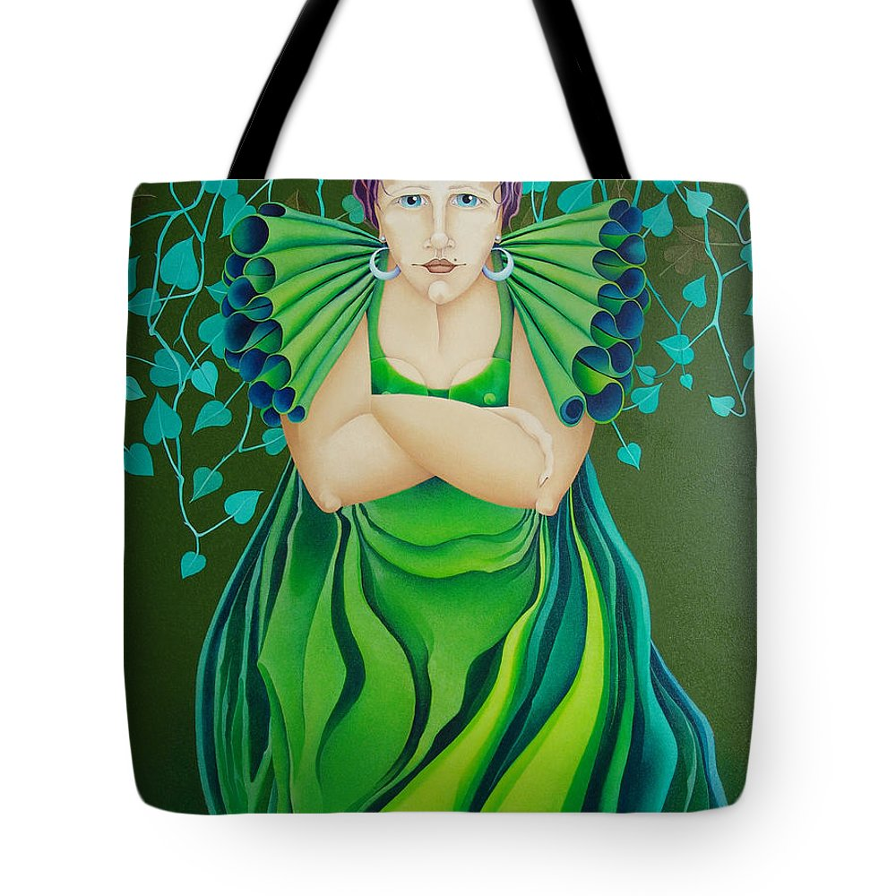 Sacha Circulism Toothpick Painting Tote Bag featuring the painting La Jerezana 2009 by S A C H A - Circulism Technique