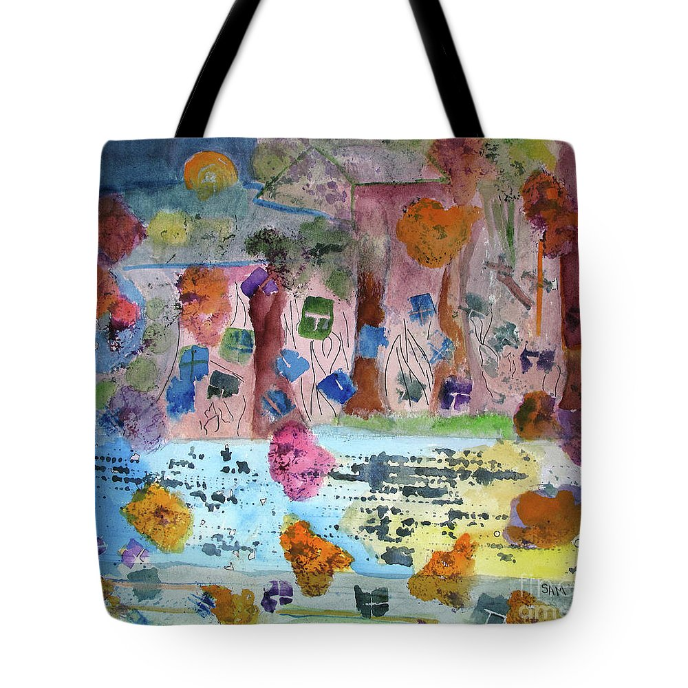 Abstract Tote Bag featuring the painting La-la Land by Sandy McIntire