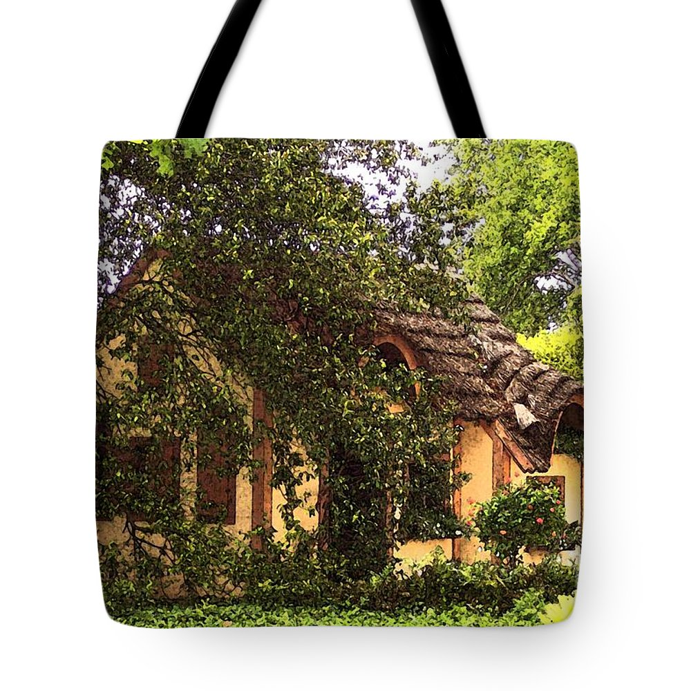 Cottage Tote Bag featuring the photograph La Maison by Debbi Granruth