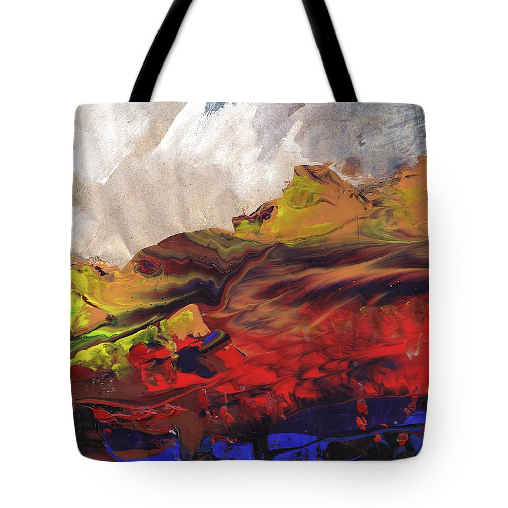 Landscapes Tote Bag featuring the painting La Mer Rouge by Miki De Goodaboom