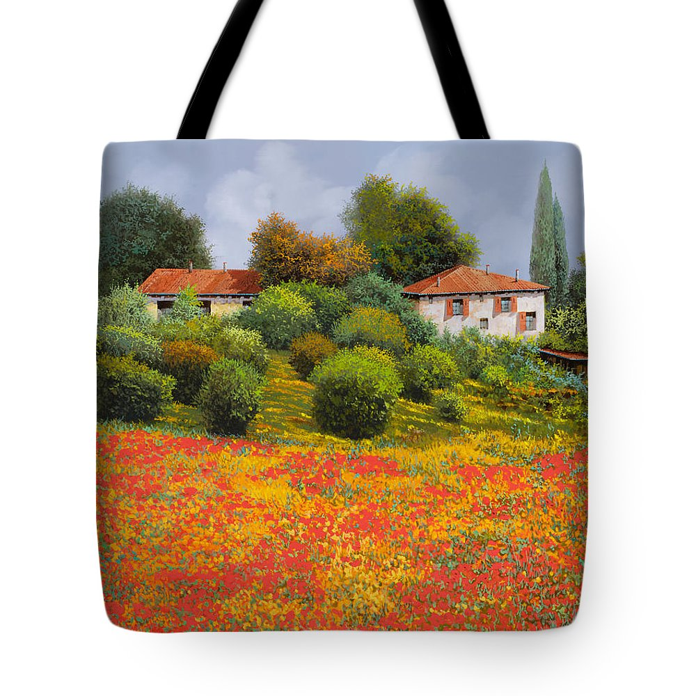 Summer Tote Bag featuring the painting La Nuova Estate by Guido Borelli