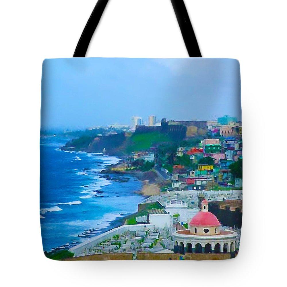 San Juan Tote Bag featuring the photograph La Perla In Old San Juan by Craig David Morrison