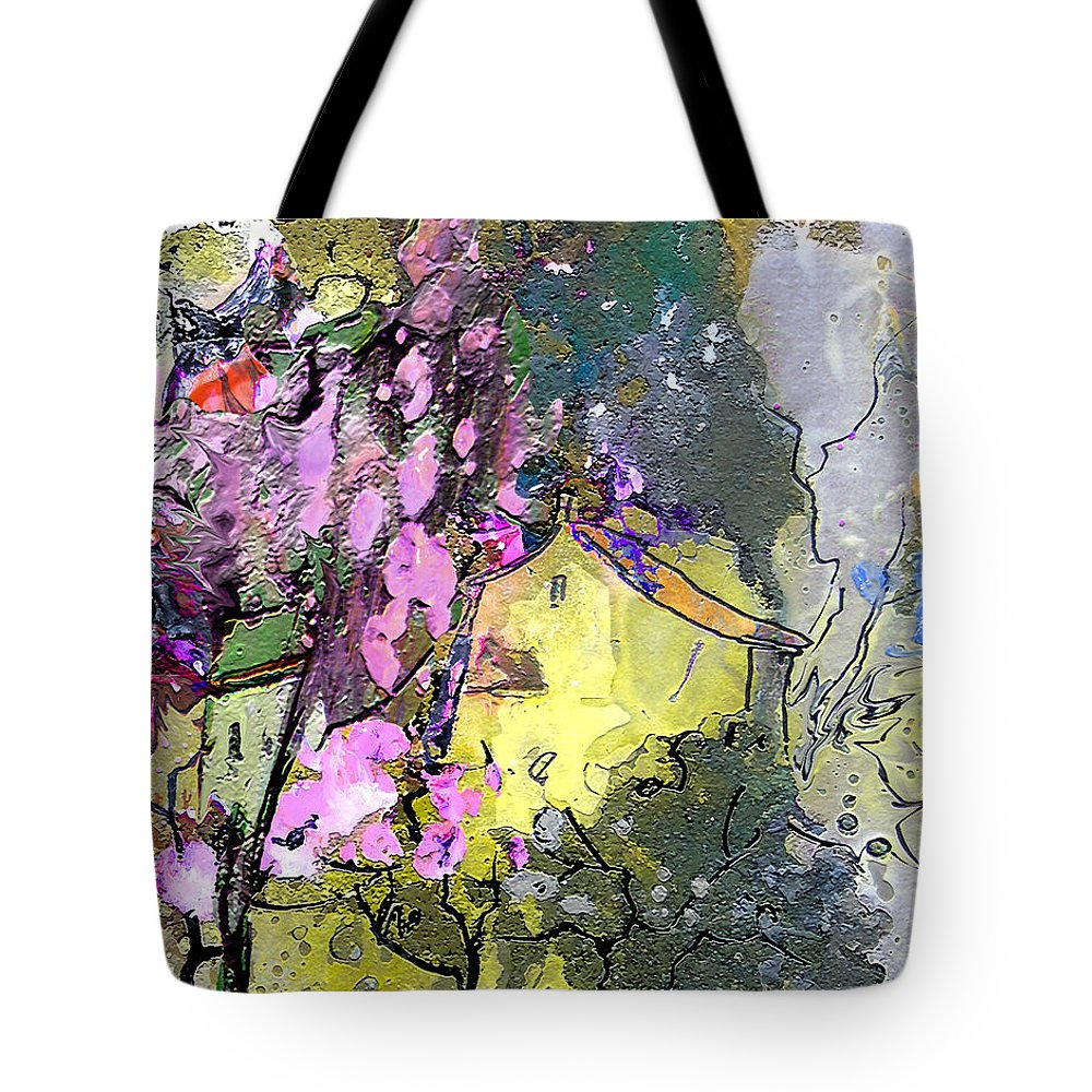 Provence Tote Bag featuring the painting La Provence 01 by Miki De Goodaboom