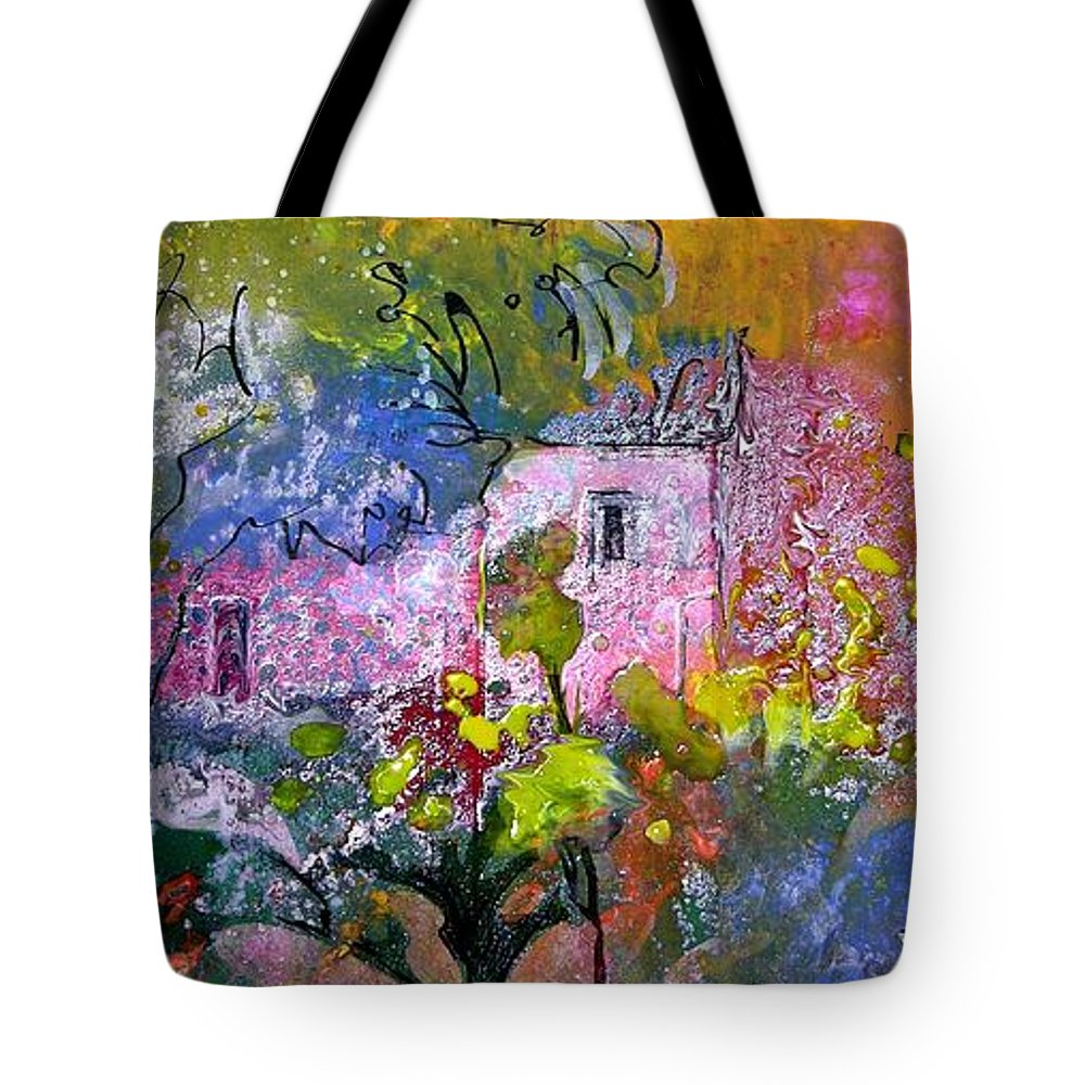 Landscape Tote Bag featuring the painting La Provence 04 by Miki De Goodaboom