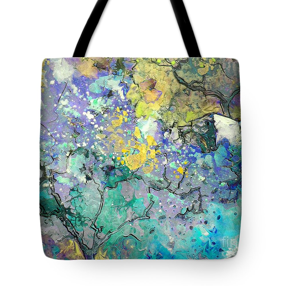 Landscape Painting Tote Bag featuring the painting La Provence 08 by Miki De Goodaboom