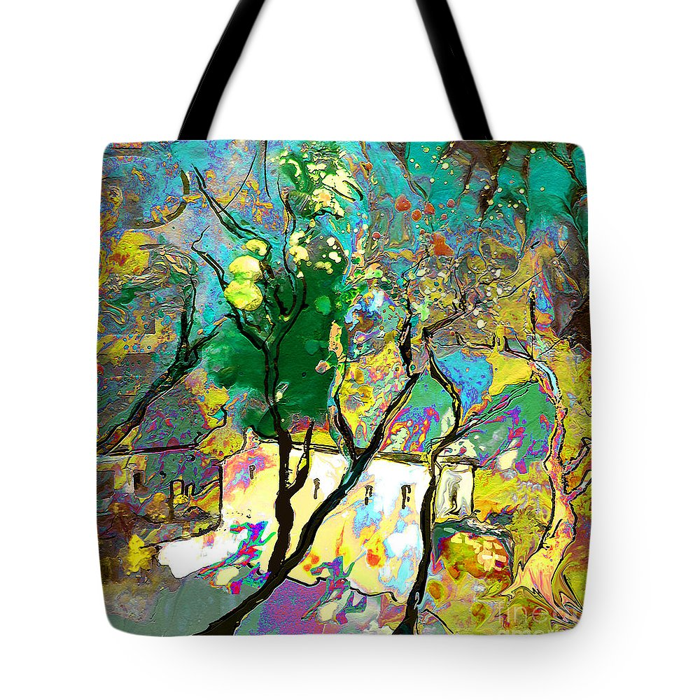 Miki Tote Bag featuring the painting La Provence 16 by Miki De Goodaboom