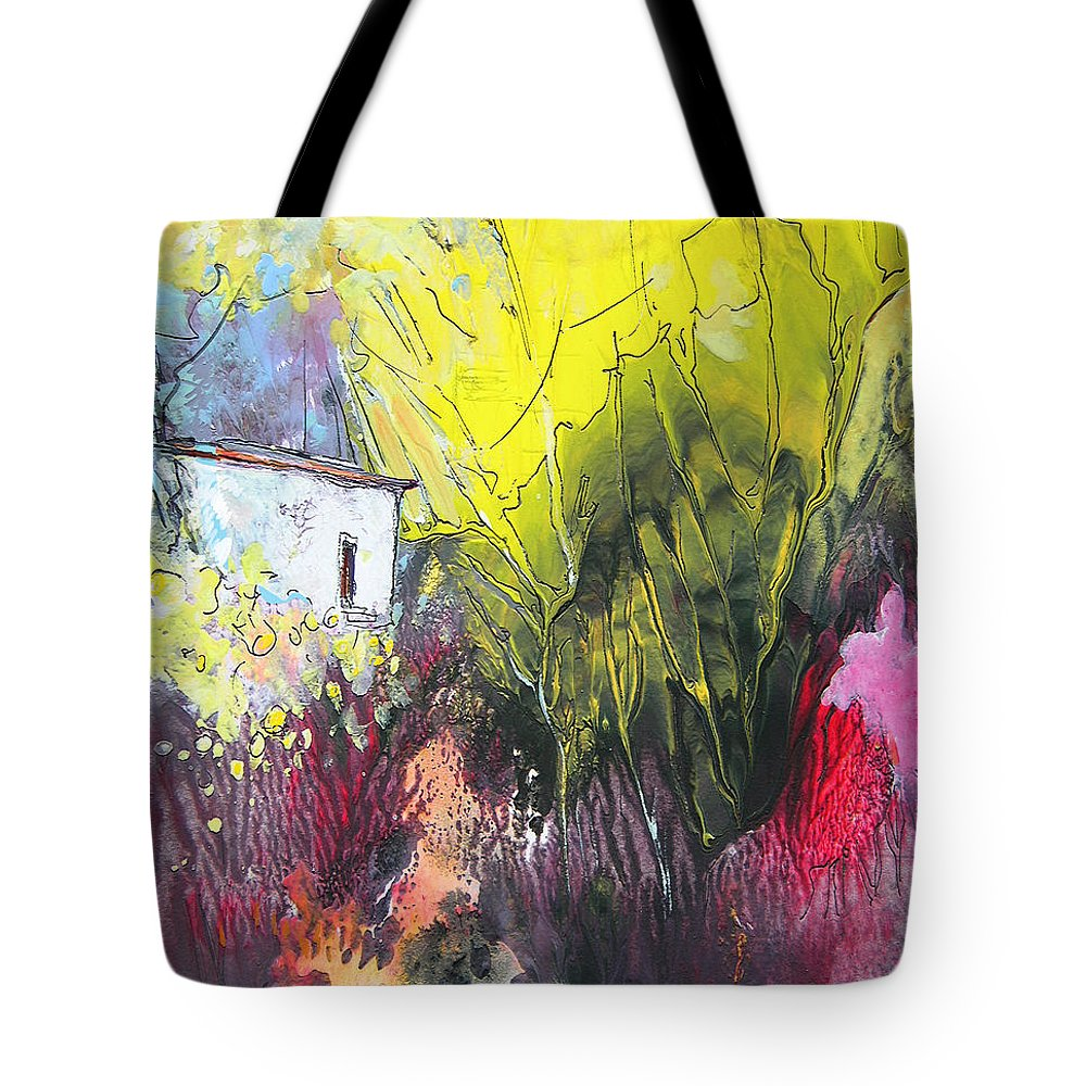 Impressionism Tote Bag featuring the painting La Provence 18 by Miki De Goodaboom