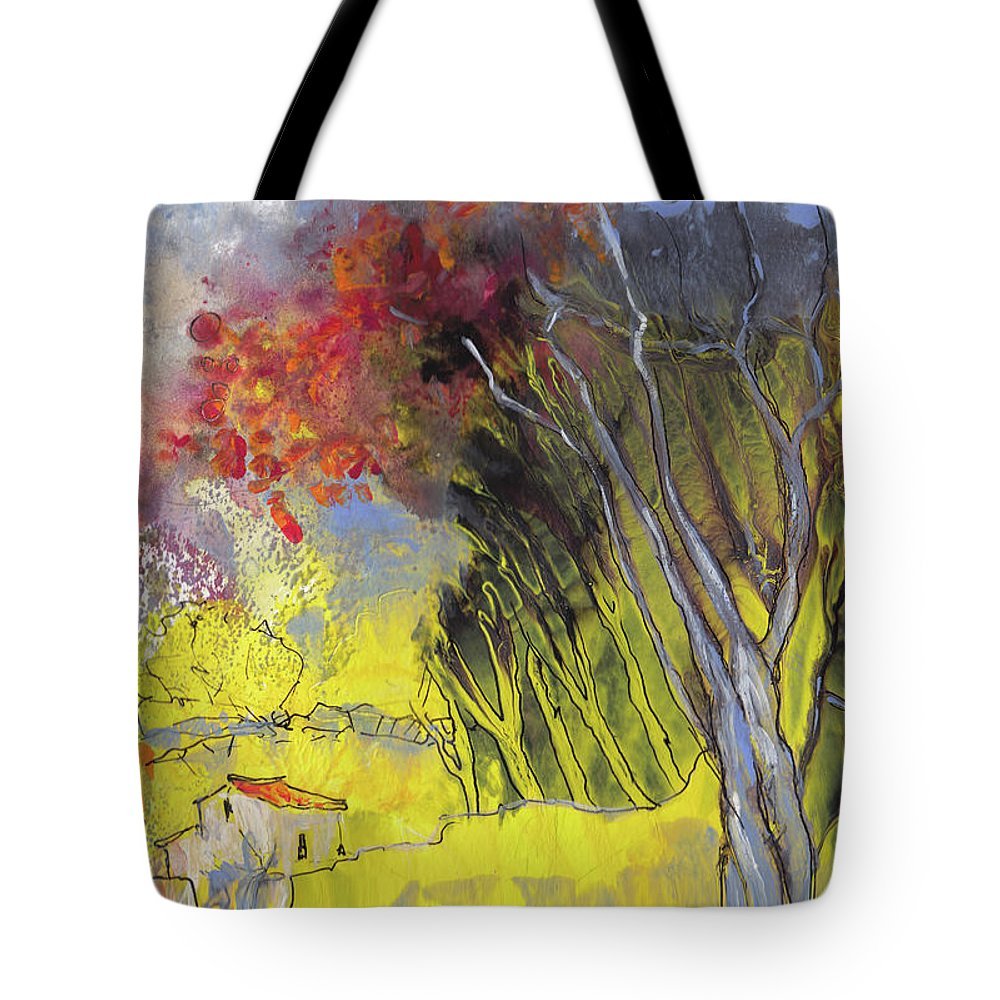Landscapes Tote Bag featuring the painting La Provence 26 by Miki De Goodaboom