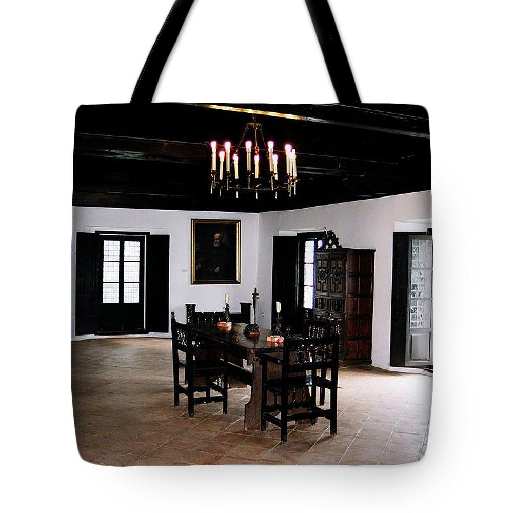 Kolumbus Tote Bag featuring the photograph La Rabida Monasterio - Huelva by Juergen Weiss